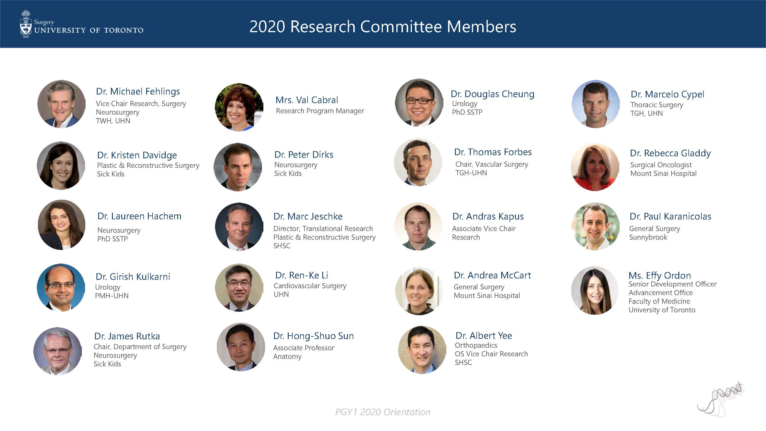 research committee members 2020