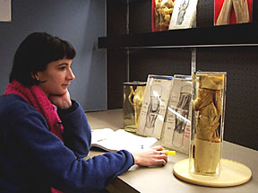 A student at the University of Toronto  studying in Grant's museum