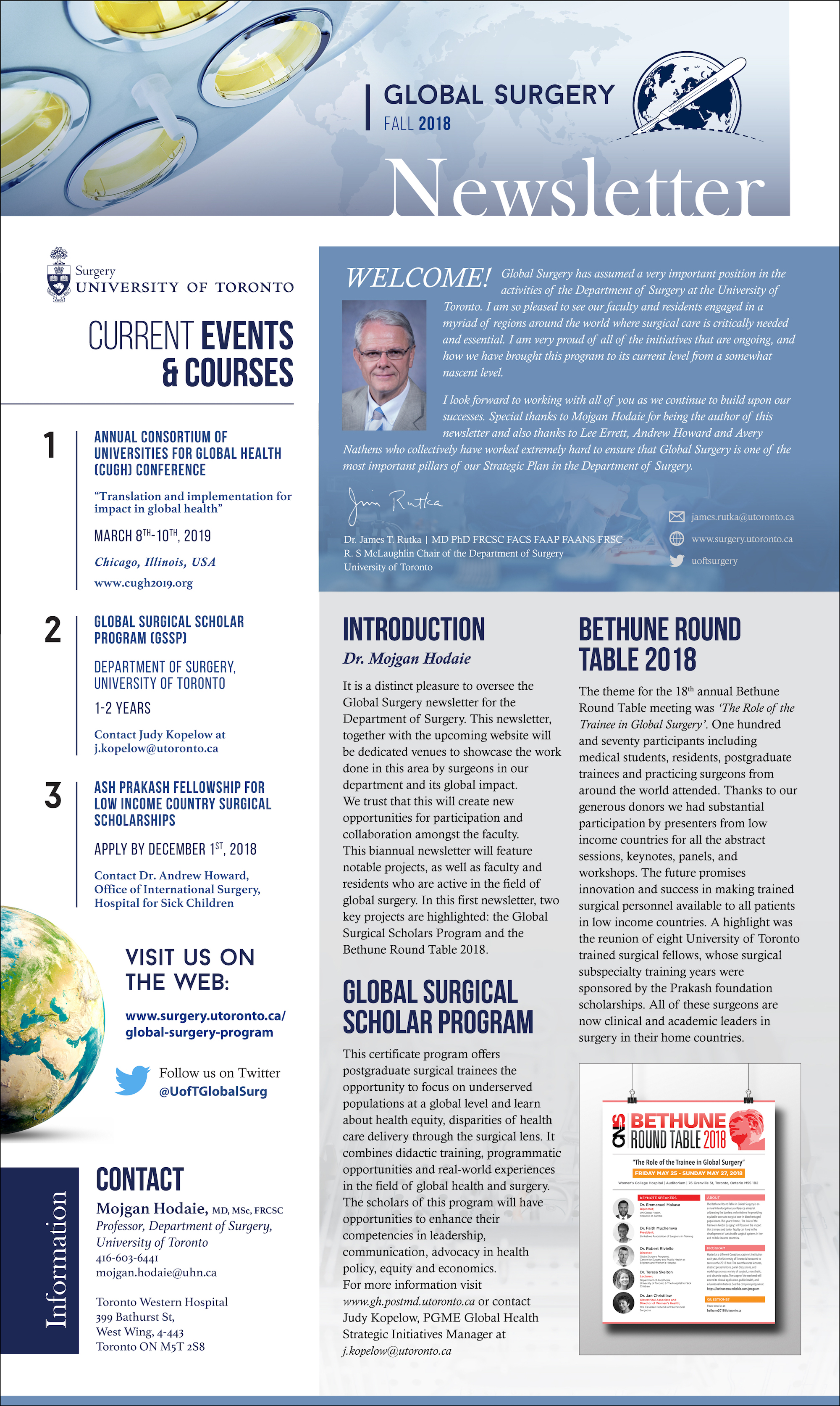 Global Surgery Newsletter Fall 2018