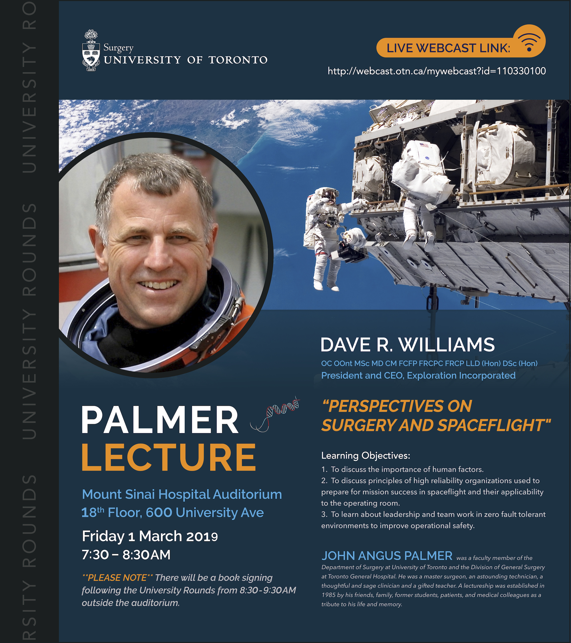 Palmer Lecture Poster
