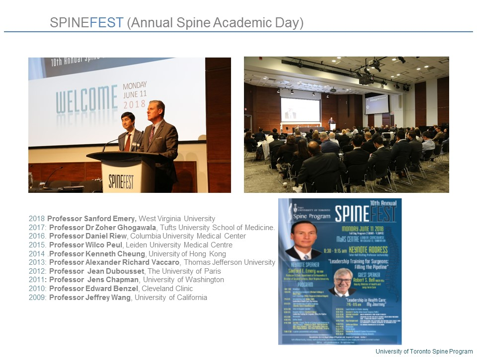 SpineFEST | Department of Surgery